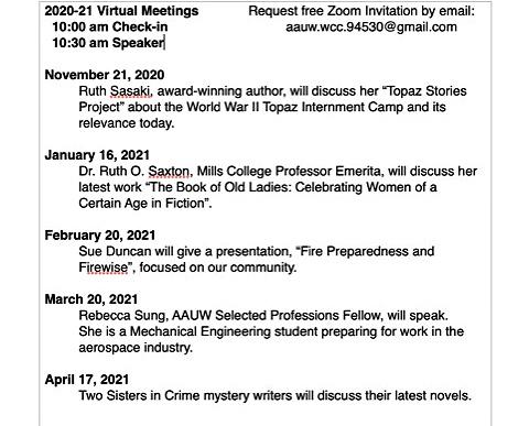 Zoom-schedule 2